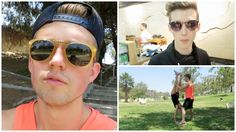 Shopping With Troye The Hardest Workout Round Sunglasses, Mirrored Sunglasses, Mens Sunglasses, Marcus Butler, British Youtubers, Hard Workout, 22 Years Old, Amp, Music