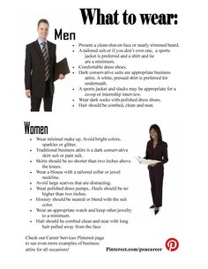 Advice on what to wear to a career fair from Penn State