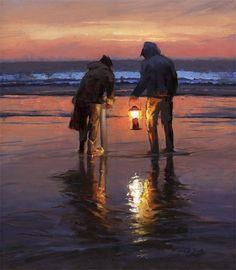 """""""November Razor Clam"""" by artist Mark Boyle oil on canvas"""
