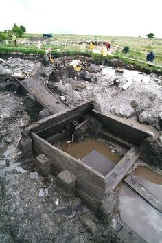 The amazingly well preserved timbers of an Early Medieval mill undercroft at Kilbegly in Roscommon, which was  excavated by Neil Jackman
