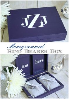 Monogrammed Ring Bearer Box - The Crafted Sparrow