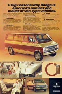 2ccb8b3122 1977 Dodge Van Ad Trucks Two Tone 70s Driver Cargo Utility Garage Shop Car  Dealership Wall Art Decor Gift for Him