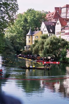 "Tuebingen - Alemania My favorite little town. This picture was taken during the annual ""Stocherkahn"" race. - Explore the World with Travel Nerd Nici, one Country at a Time. http://TravelNerdNici.com"