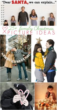 25 +cute family Christmas picture ideas | Lots of inspiration via lollyjane.com
