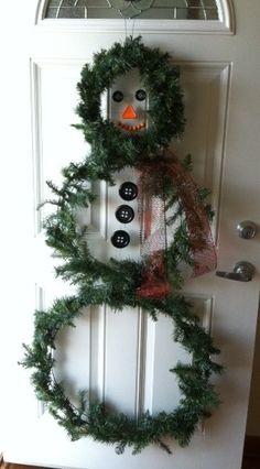 My Mr. Snowman the doorman!!