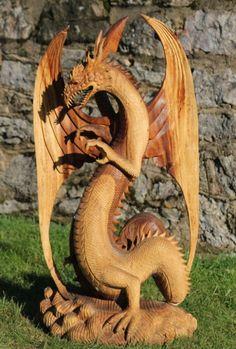 Amazing wood carving add a smoke generator from model railways !