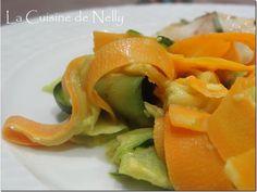Tagliatelles de Carottes et Courgette, crème au Curry