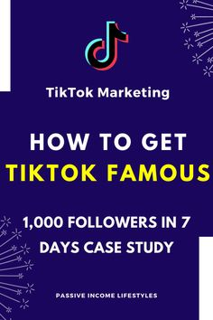 How to get 1000 TikTok followers organically? Check out my video on Tiktok marketing. Here's day 3 of our Tik Tok case study with more algorithm updates, tricks, and tips. Follow #PassiveIncomeLifestyles for more videos on internet marketing, affiliate marketing, business, and making money online #tiktok #tiktokmarketing #makemoneyonline #socialmediamarketing #internetmarketing #affiliatemarketing Internet Marketing, Social Media Marketing, Digital Marketing, Make Money Online, How To Make Money, Growth Hacking, Passive Income, Tik Tok, Case Study