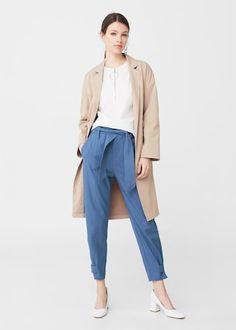 Pantalón cinturón lazo | MNG