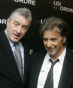 Robert De Niro and Al Pacino in Paris, Monday, Sept. 15, 2008.