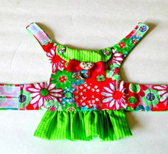 Small Dog Harness Vest Small Dog Harness by BloomingtailsDogDuds
