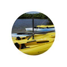 Canoe Trip Wall Clock