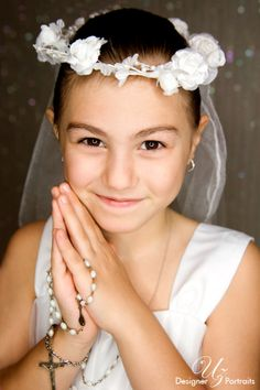 First Communion | Portrait Photography Studio | Uz Designer Portraits | Port St Lucie, Jensen Beach, Stuart, Jupiter, Palm Beach Gardens