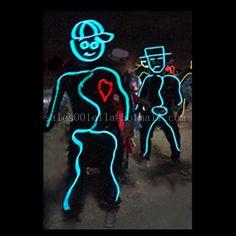 Daft Punk EL wire costumes   Light Costumes   Pinterest   El wire ...
