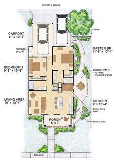 Cottage Craftsman House Plan 56578 Level One