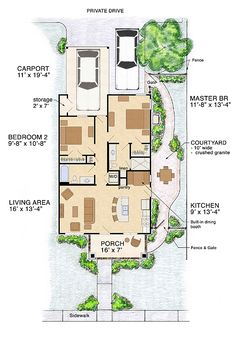 The floor plan to the small little cottage.   IN LOVE!