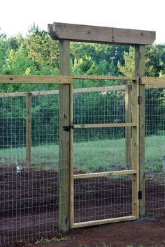 share a yard with your pets? Here's a solution to keep the visual field deep yet separate your pets from the veggies.