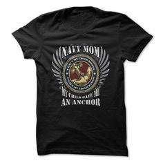 (Tshirt Coupon Today) Navy T-Shirt Navy Mom My Child Gave Me An Anchor [Tshirt…