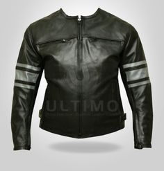 STALLION MOTORCYCLE LEATHER JACKET  Jacket Features:  Outfit type: Leather Jacket  Gender: Male  Color: Black  Front: Front Zip Closure  Collar: Snap Collar  Lining: Viscose Lining  Pockets: Four pockets