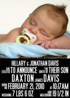 #birth #announcement