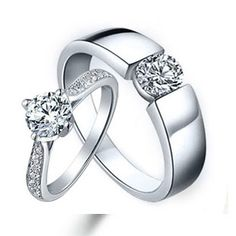 Sterling Silver Cubic Zirconia CZ Wedding Engagement Ring Sets