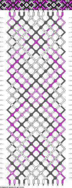 Muster # 81797, Streicher: 12 Zeilen: 34 Farben: 5