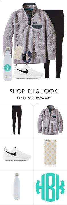 obsessed with my new Patagonia outfit for practice tonight! by sydneygrignon ❤ liked on Polyvore featuring NIKE, Patagonia, Kate Spade and Swell