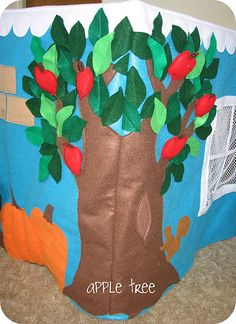 card table playhouse - love the apple tree
