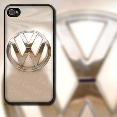 Volkswagen White Velvet Look with Emblem Design on iPhone 4 / 4s / 5 / 5s / 5c / 6 Rubber Silicone Case by EastCoastDyeSub on Etsy https://www.etsy.com/listing/112850573/volkswagen-white-velvet-look-with-emblem