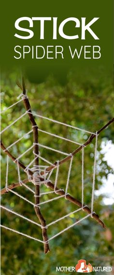 Stick Spider Webs | Spider web craft | Spider Halloween  Craft