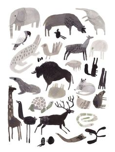LOS ANIMALES - would love to get this printed and framed for Ro's room