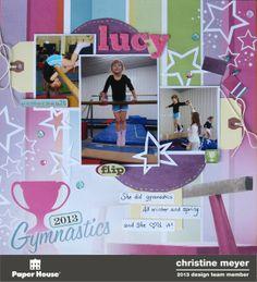 Gymnastics Layout - Scrapbook.com
