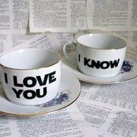 I Love You / I Know tea set  #pixiemarket.com