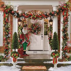 Frontgate outdoor Christmas decor
