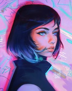 """20k Likes, 95 Comments - Ross Tran (@rossdraws) on Instagram: """"A little Portrait experiment! I have an addiction to these colors ❄️☂️ - #digitalart #art…"""""""
