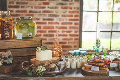 Bar à donuts pour un mariage
