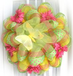 Easter Wreath.  Would also be cute in a little girl's room.