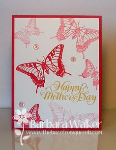 The Buzz: Mother's Day Cards, featuring Generation Stamping, Stampin' Up inks and card stock, #PrettyPinkPosh sequins