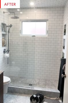 Bathroom Decor yellow White Marble Bathroom Design Before After Photos Marble Bathroom, Craftsman Bathroom, Dream Bathrooms, Marble Tile Bathroom Floor, Small Bathroom, Bathroom Decor, Bathroom Interior Design, Marble Tile Floor, Bathroom Renovations