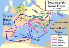 Invasions of the Roman Empire 100-500 CE [1954 × 1362]