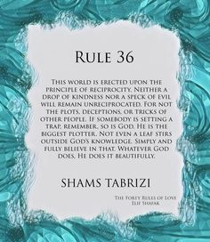 Rule 33 of Shams Tabrizi's forty rules of love. Taken from the novel 'The Forty Rules of Love' written by Elif Shafak. Forty Rules Of Love, Love Rules, Islamic Inspirational Quotes, Islamic Quotes, Inspiring Quotes, Shams Tabrizi Quotes, Rule 33, Rumi Love Quotes, Poetry Quotes