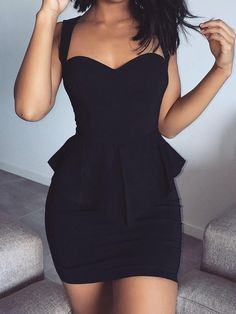 Sweetheart Peplum Sleeveless Sheath Mini Dress dresses and accessories all over the world at competitive prices, and with a high level of customer care. Sexy Dresses, Cute Dresses, Short Dresses, Fashion Dresses, Cute Outfits, Prom Dresses, Peplum Dresses, Bandage Dresses, Fashion Sets