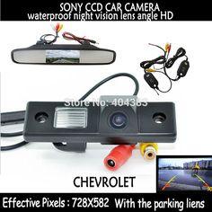 wireless sony CCD Rear View car Camera backup parking camera + monitor for CHEVROLET Epica/Lova/Aveo/Captiva/Lacetti/Cruze/Matiz