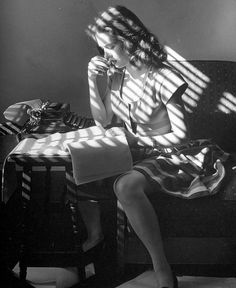 Actress Cathy O'Donnell working on her poetry, 1945, photo by Martha Holmes