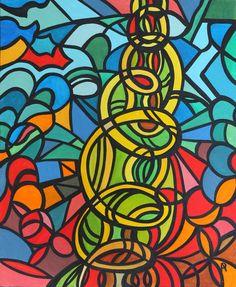 Artwork >> Anne Philippe Patchworld >> Spiral #artwork, #oil, #painting, #masterpiece, #spiral