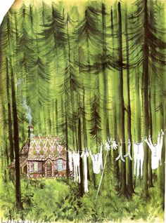 BlackForest by Ronald Searle. A dream of mine is to illustrate a children's book someday.