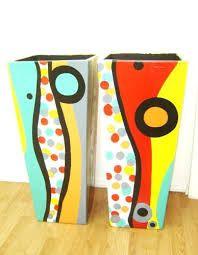 Imagen relacionada Ceramic Painting, Diy Painting, Painting On Wood, Painted Plant Pots, Painted Flower Pots, Clay Flower Pots, Clay Pots, Hobbies And Crafts, Diy And Crafts