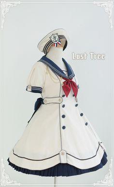 Lost Tree -Akademie der Meeresbrise- Lolita OP Dress - My Lolita Dress