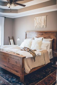 Nice 50+ Rustic Master Bedroom Ideas... Nice 50+ Rustic Master Bedroom Ideas http://tanaflora.com/nice-50-rustic-master-bedroom-ideas?utm_source=PN&utm_medium=Resep+Bunda&utm_campaign=SNAP%2Bfrom%2BTanaflora.com
