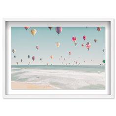 Beachside Balloons | Nautical and Coastal Wall Art by The Oliver Gal Usa Holidays, Coastal Wall Art, Modern Wall Decor, Oliver Gal, Coastal Style, Shadow Box, Canvas Frame, Nautical, Balloons